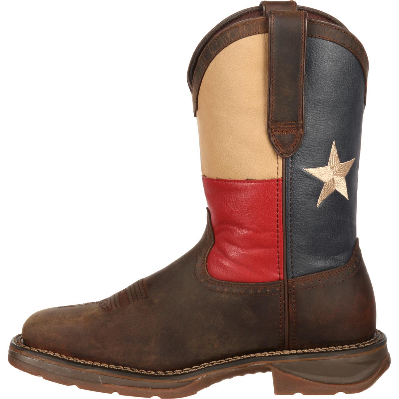11 Quot Rebel By Durango 174 Texas Flag Western Men S Steel