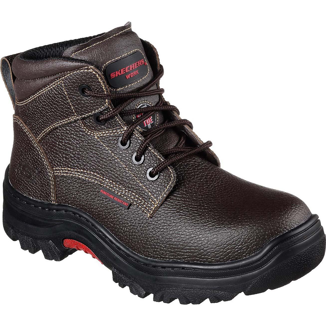 Skechers Steel Toe Puncture Resistance Work Boot 77143brn