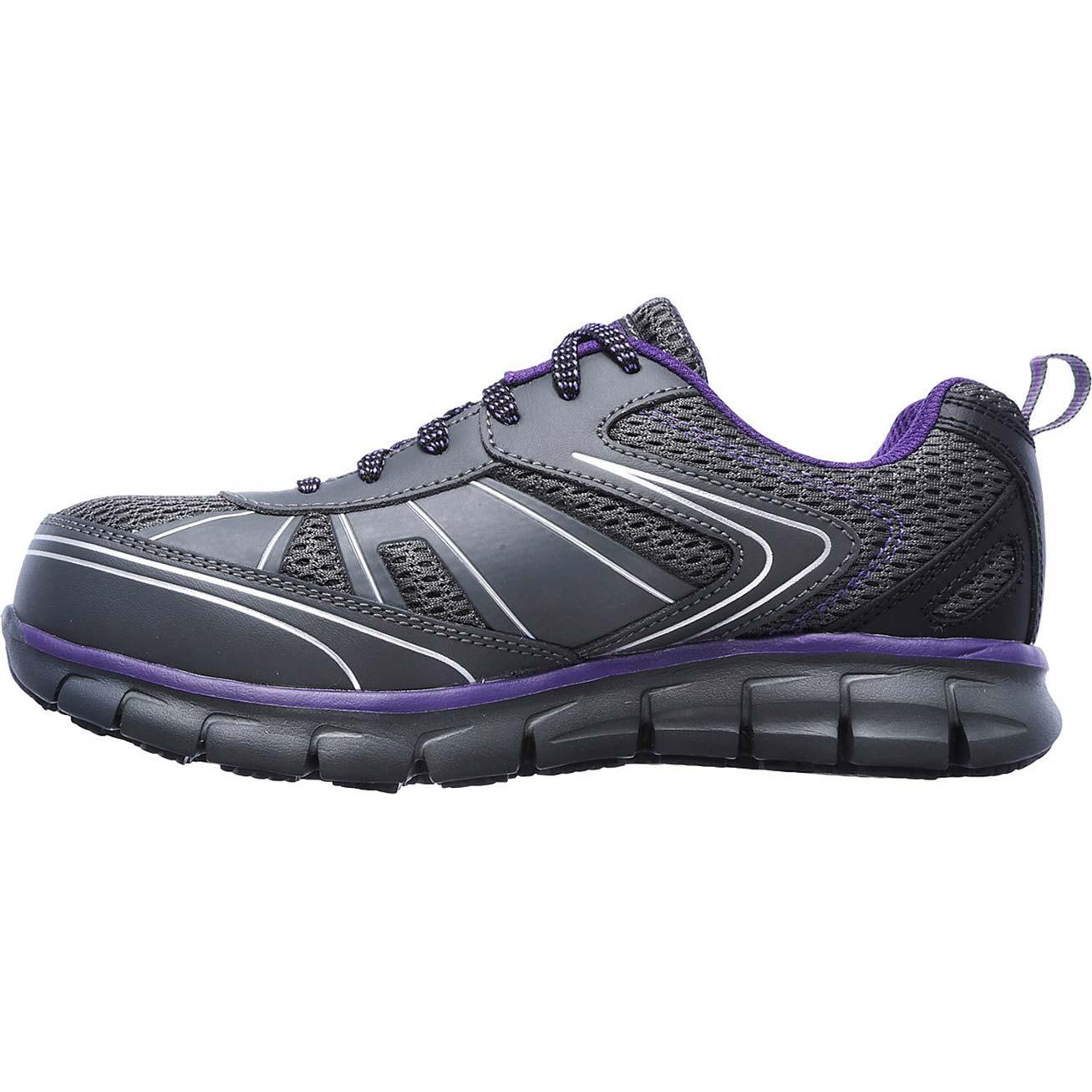 2f69b3837bb6 SKECHERS Work Synergy Algonac Alloy Toe Work Athletic Shoe
