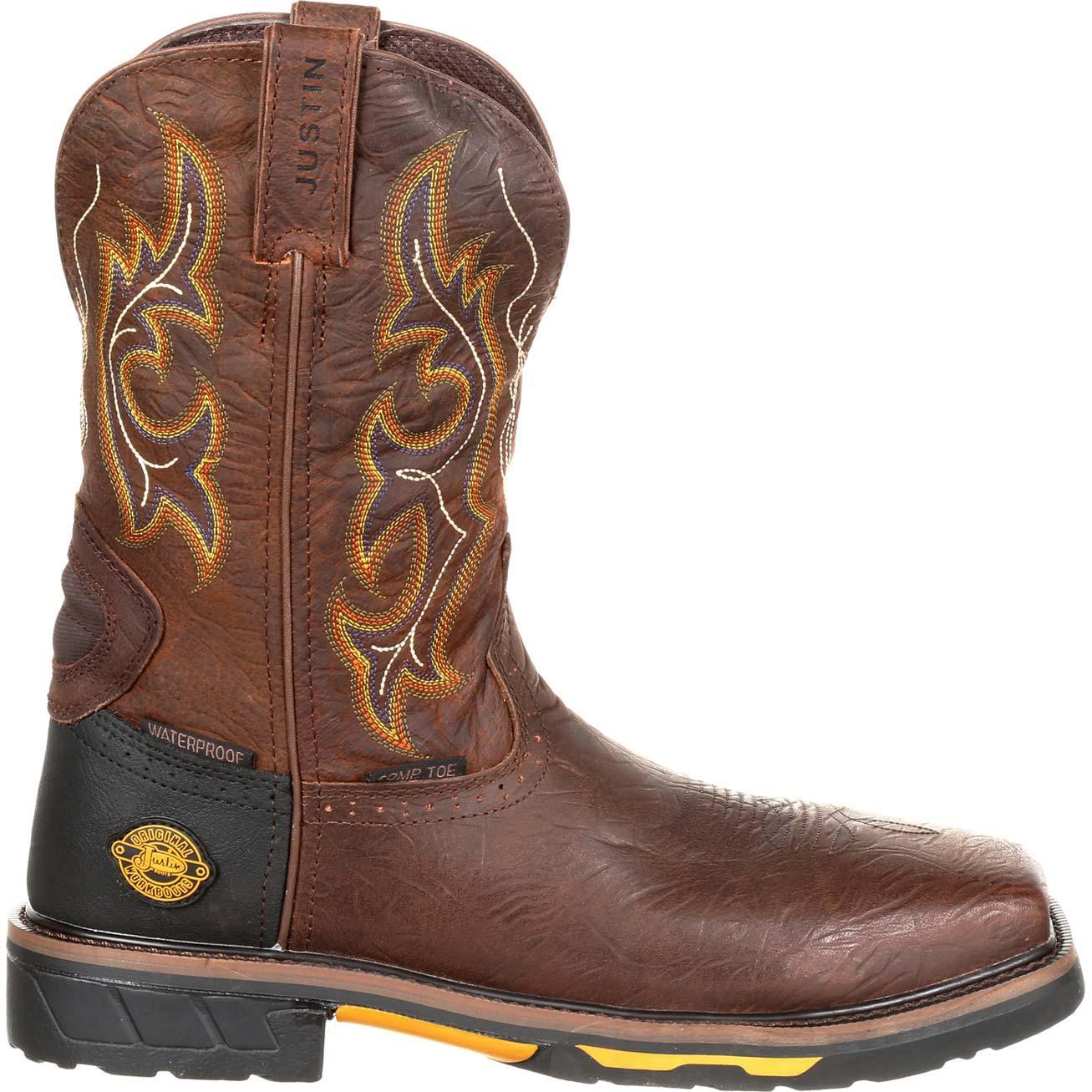 8e2fe8c3599 Justin Work Hybred® Joist Composite Toe Waterproof Western Work Boot