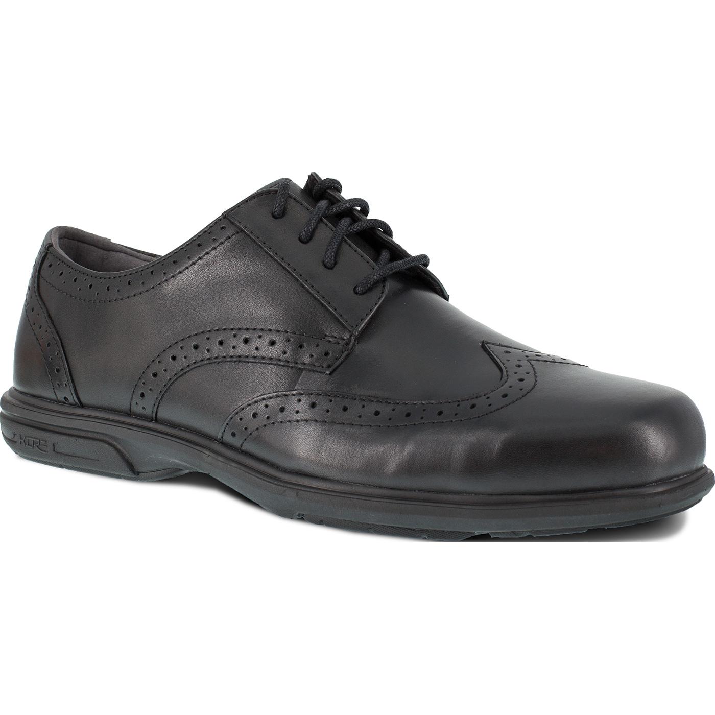 8778aab11b4 Florsheim Work Loedin Men's Steel Toe Static-Dissipative Black Dress  Wingtip Oxford