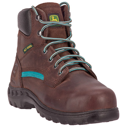 John Deere Women's Steel Toe Internal Met Guard Work Boot, , large