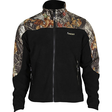 Rocky SilentHunter Fleece Jacket, MossyOak/Blk, large