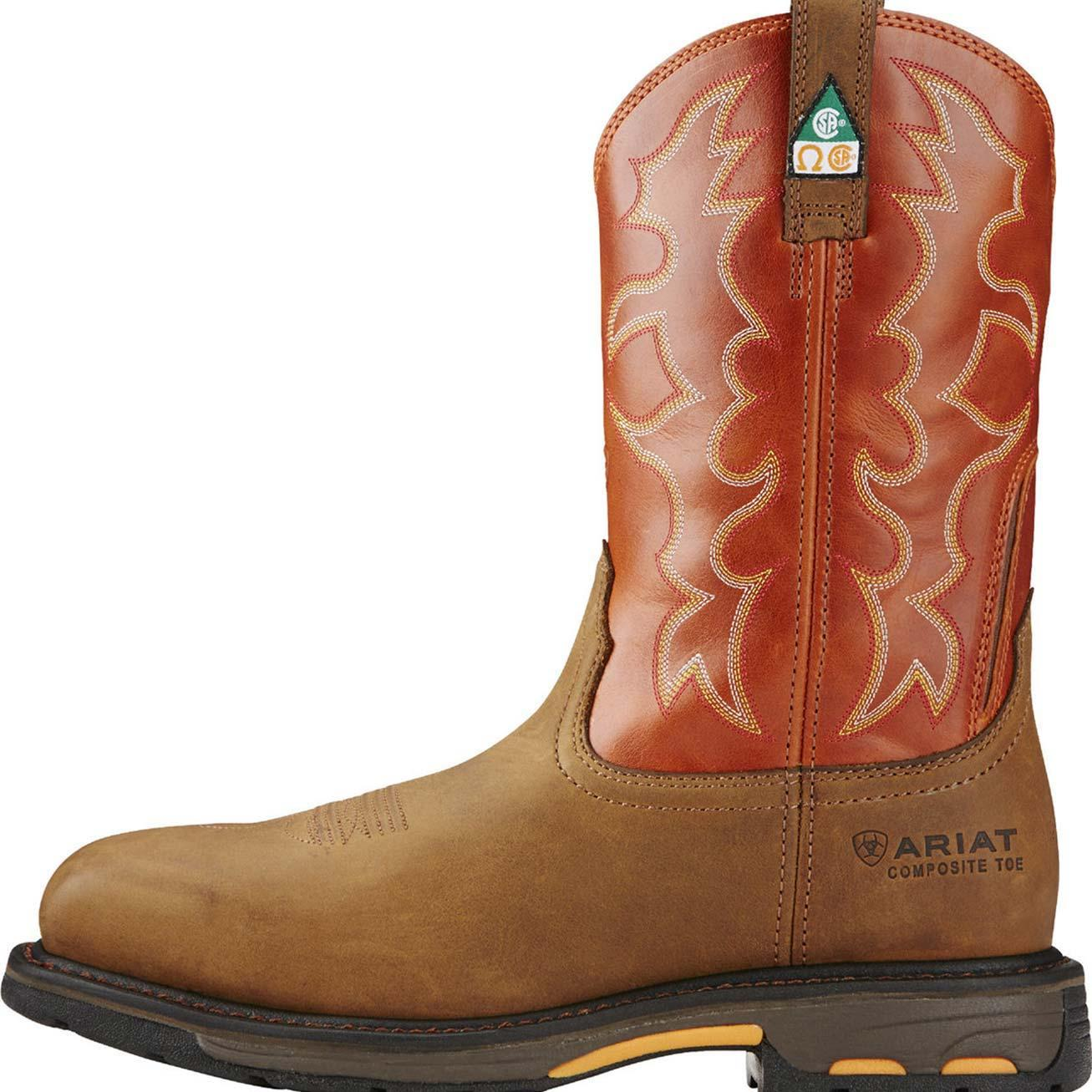 Ariat Workhog Composite Toe CSA,Approved Puncture,Resistant Western Work  Boot