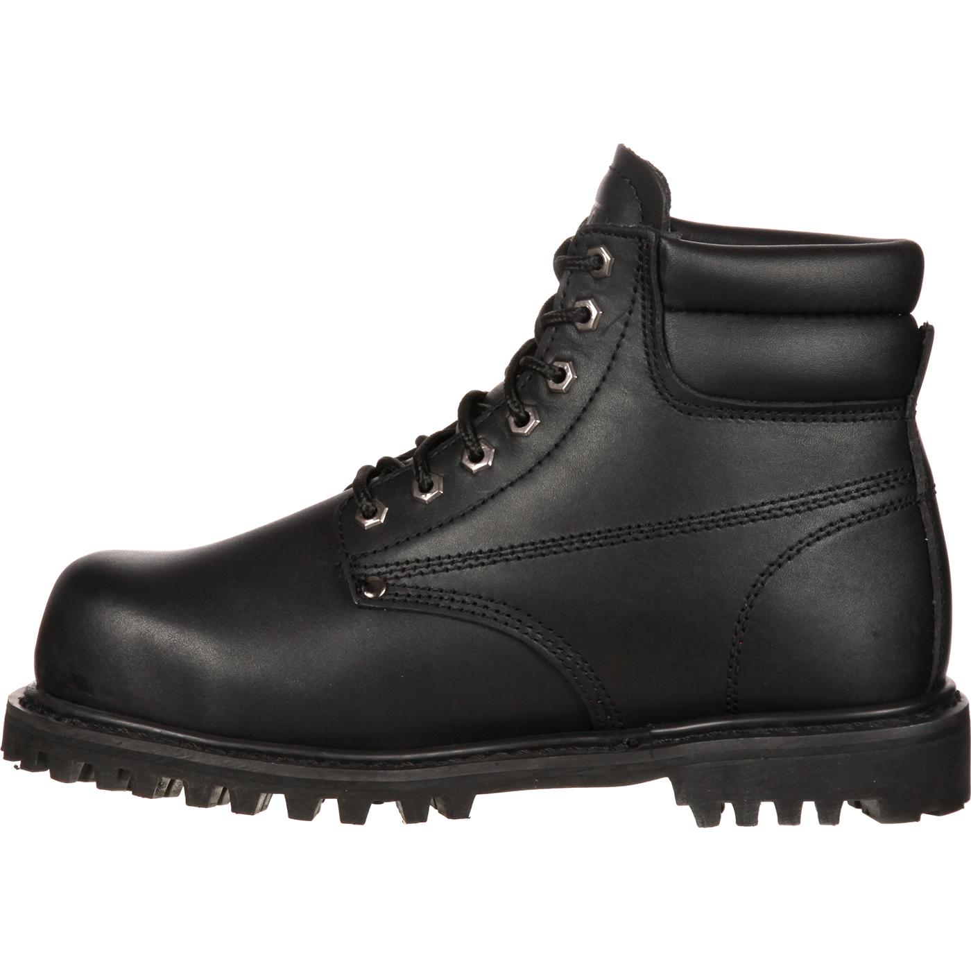6 Black Steel Toe Work Boots Lehigh Safety Shoes 5236
