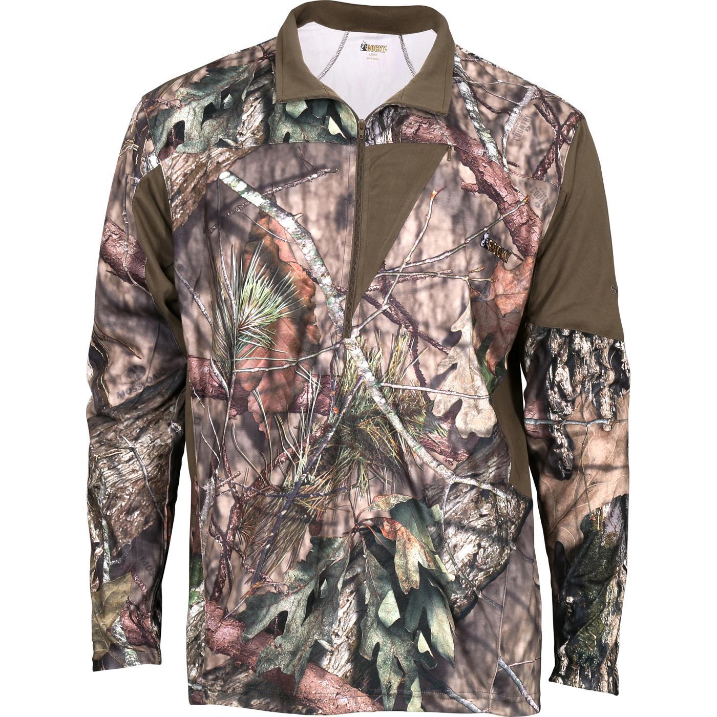 e8e0bb8b Rocky SilentHunter 1/4 Zip ShirtRocky SilentHunter 1/4 Zip Shirt, Mossy Oak  Country