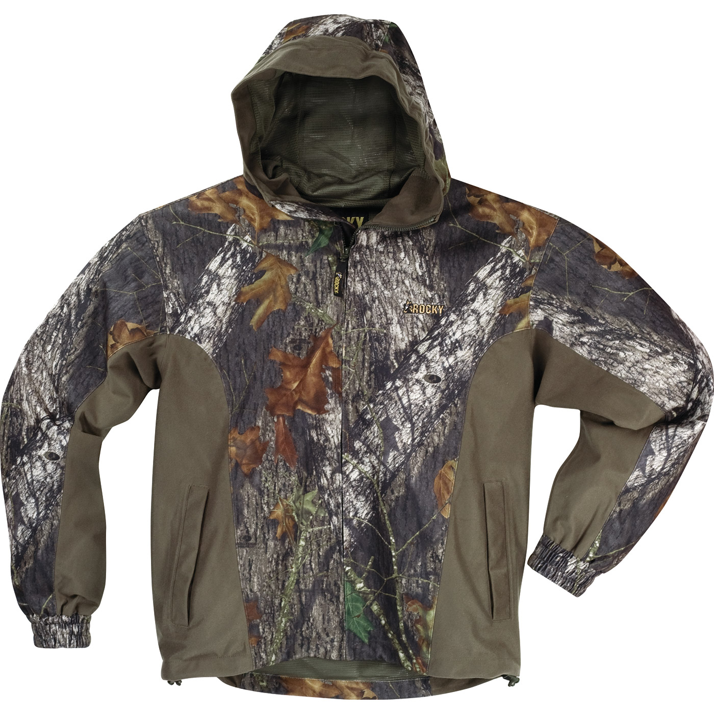 67e69d1454a06 Rocky made this men's ProHunter hooded jacket with concealing camo ...