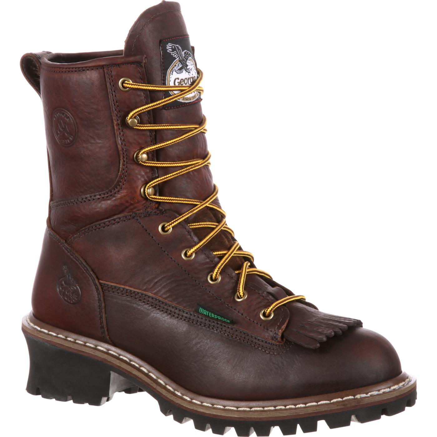 Steel Toe Waterproof Logger Boots Georgia Boot G7313