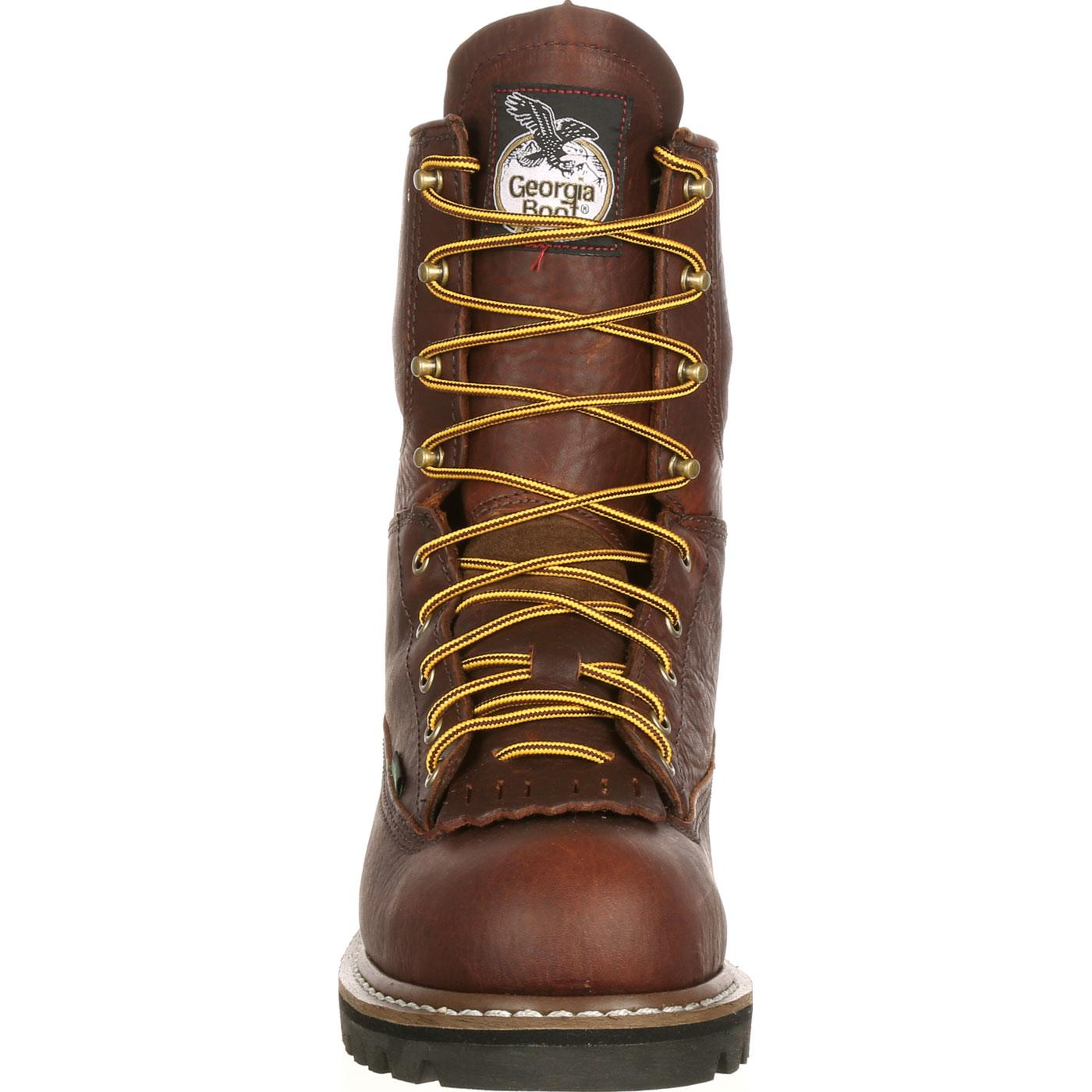 fcad5a90630 Georgia Boot Steel Toe Waterproof Lace-To-Toe Work Boot