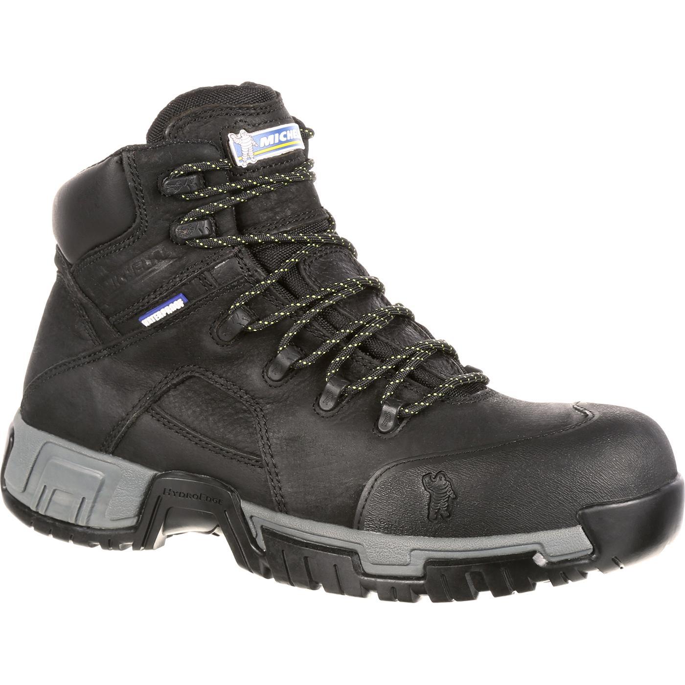f079fb7cbb290f Michelin HydroEdge Steel Toe Puncture-Resistant Waterproof Work Boot