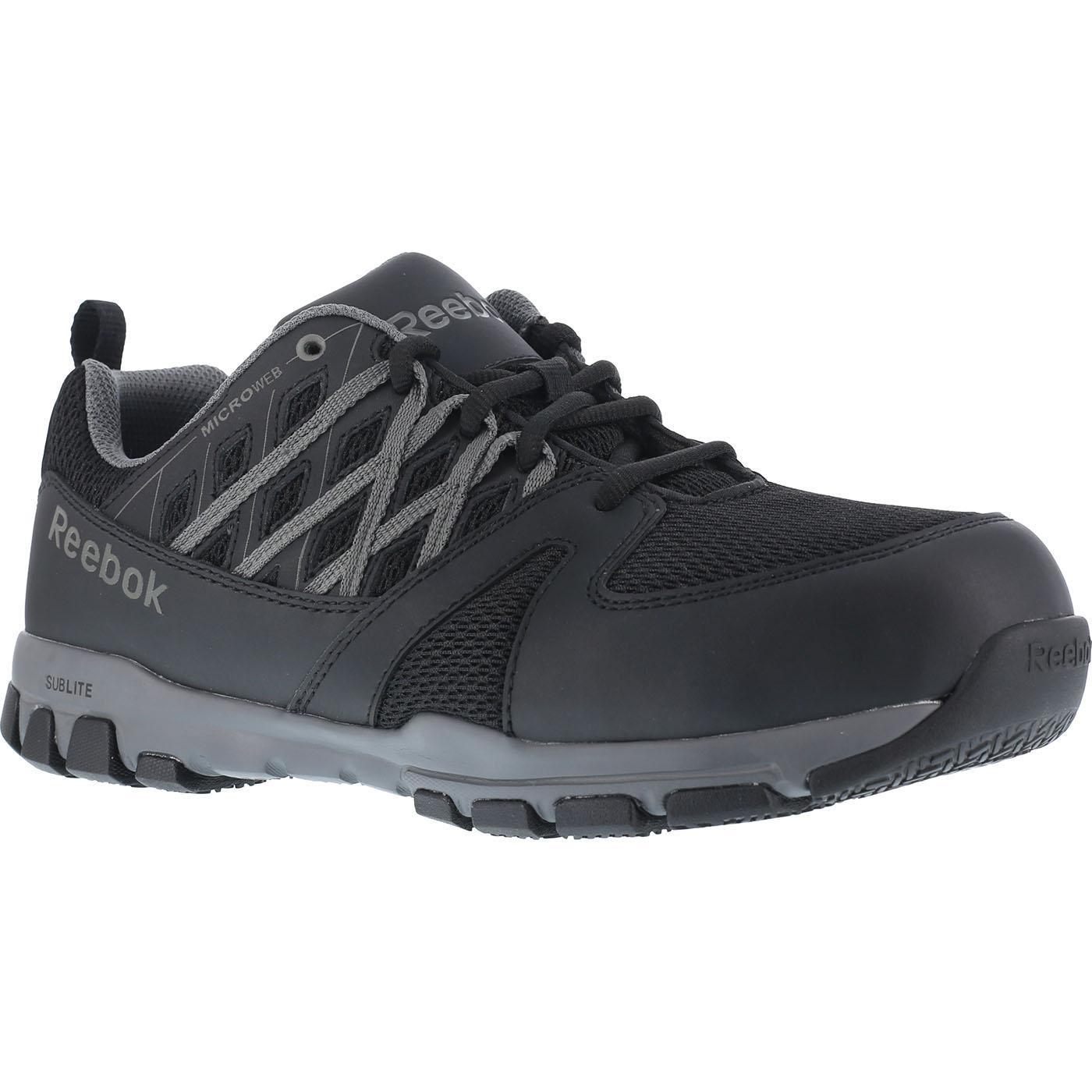3ee3e24b1bf Reebok Sublite Steel Toe Static-Dissipative Slip-Resistant Work Athletic  ShoeReebok Sublite Steel Toe Static-Dissipative Slip-Resistant Work  Athletic Shoe