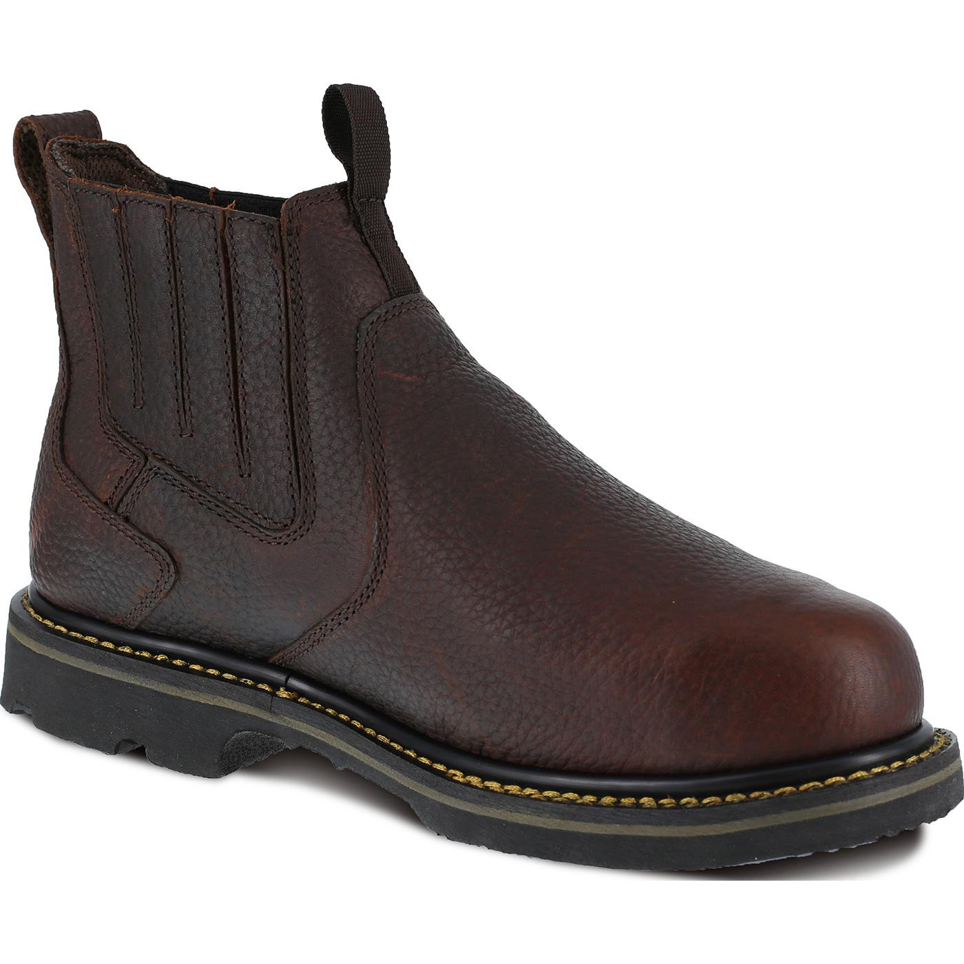 a744734793d Iron Age Groundbreaker Men's Internal Met Guard Steel Toe Work Boots