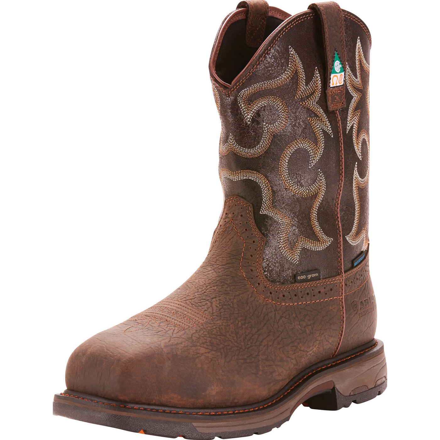 8c8153b74 Ariat WorkHog Wide Square Men's 11 inch Composite Toe CSA Puncture  Resistant Waterproof 600g Insulated Western Work BootAriat WorkHog Wide  Square Men's 11 ...