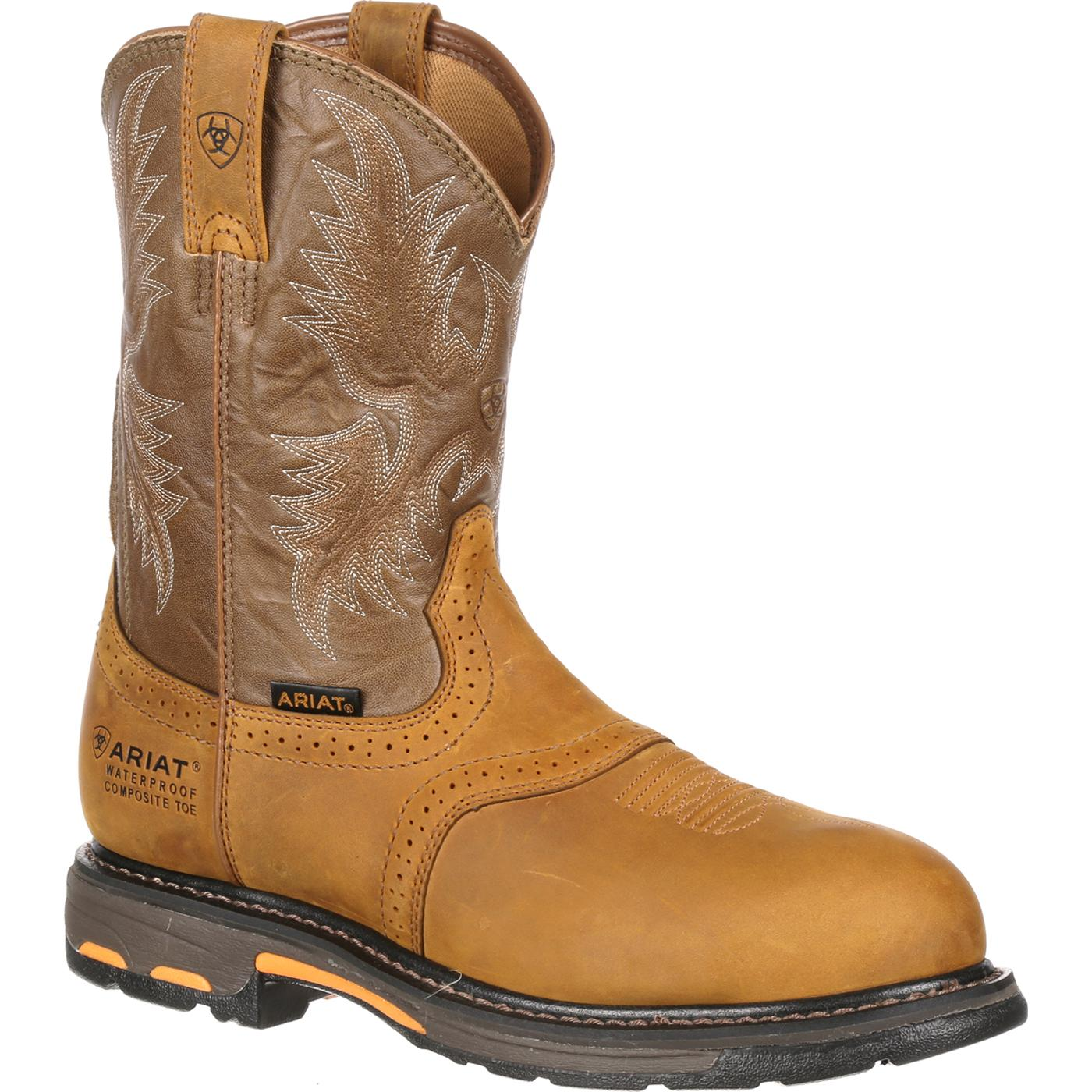 fc04c9005a9 Ariat WorkHog Pull-On H2O Composite Toe Waterproof Work Boot