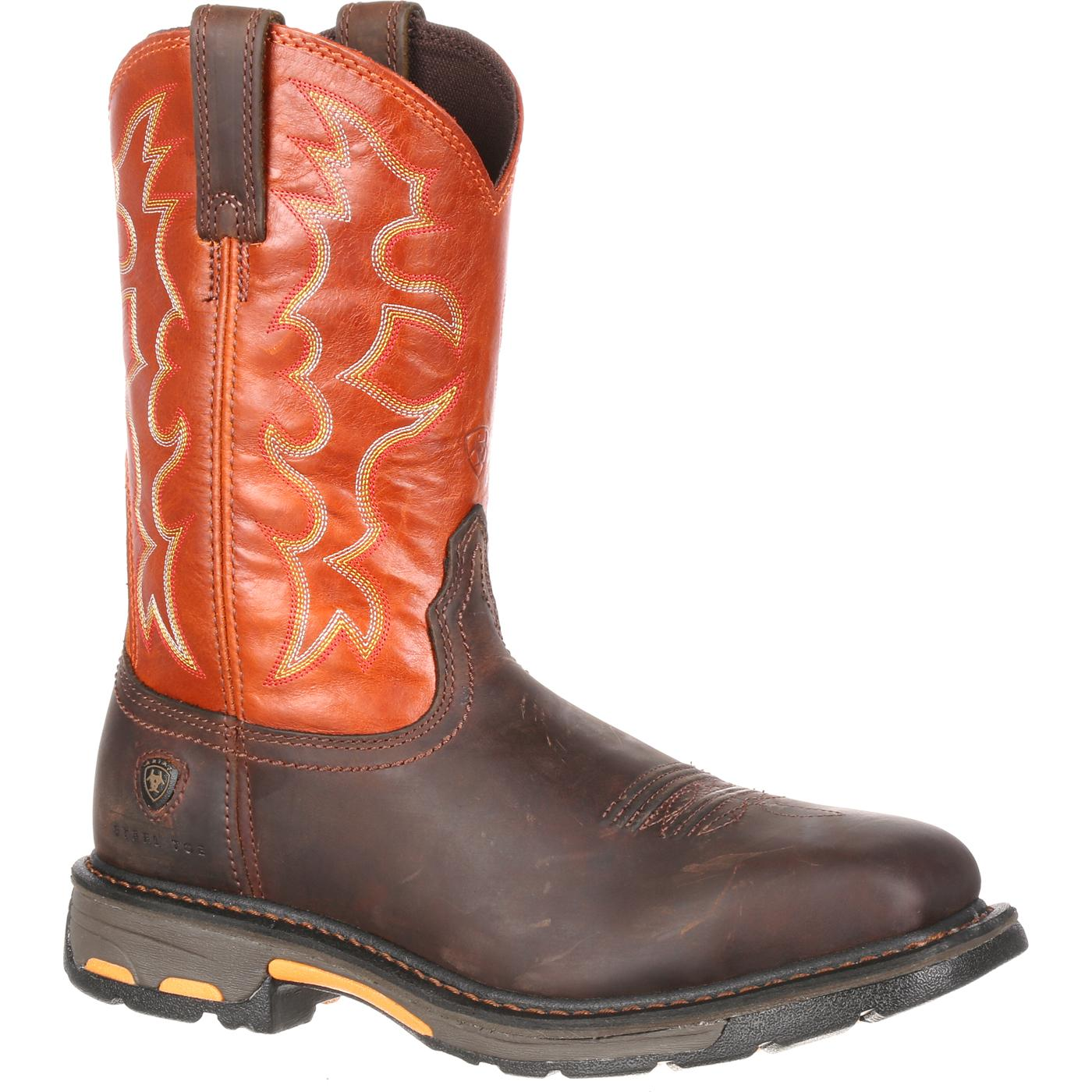 Ariat Workhog Wide Square Toe Steel Toe Western Boot