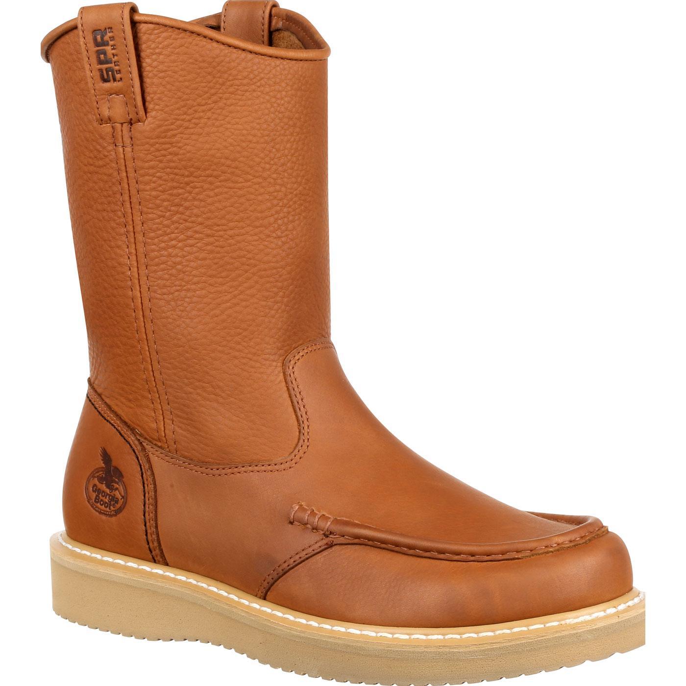 Georgia Boot Wedge Moc Toe Pull-On Work BootGeorgia Boot Wedge Moc Toe  Pull-On Work Boot 8bac6cb54a71