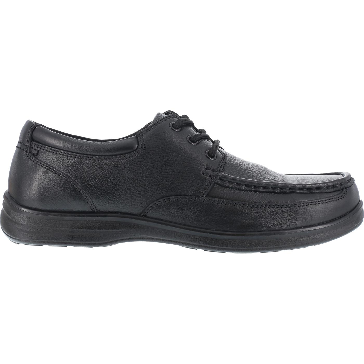 ffbae354b2d2 Florsheim Wily  Moc Toe Lace Up Steel Toe SD Black Oxford