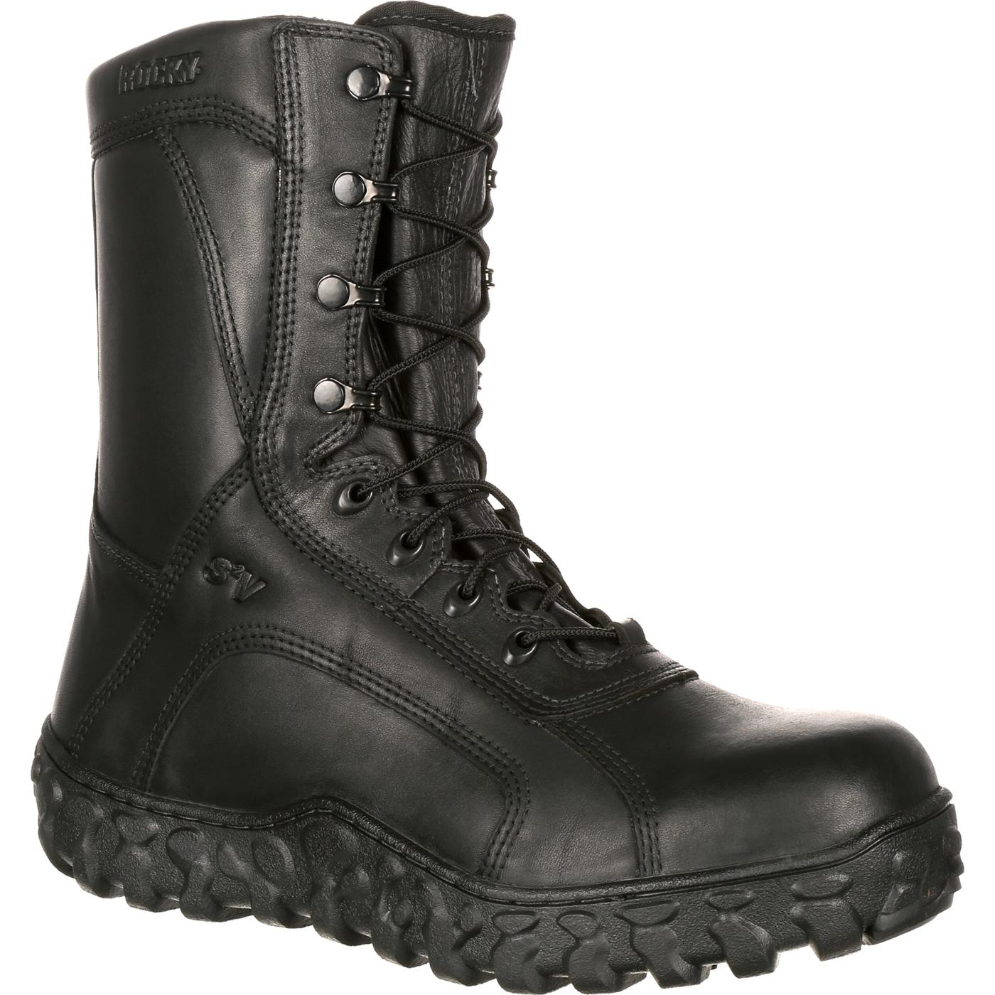 Steel Toe Tactical Military Boot Made In Usa Rocky S2v