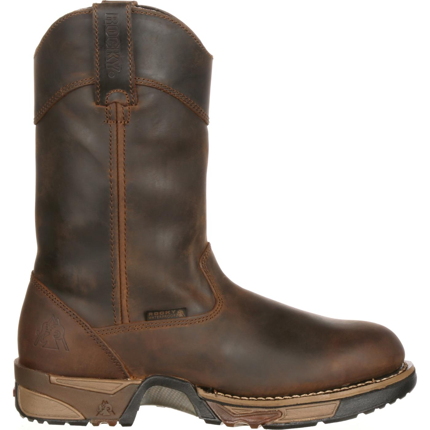 26b2be6204b Rocky Steel Toe Waterproof Wellington Work Boot