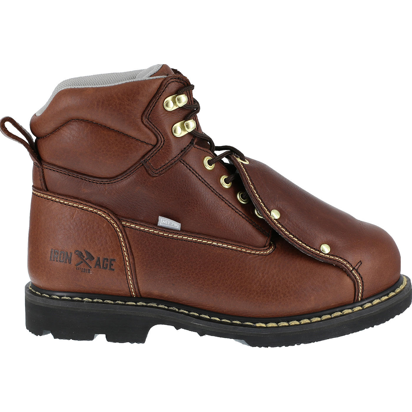 1994fb59e89 Iron Age Groundbreaker Men's External Met Guard Steel Toe Work Boot