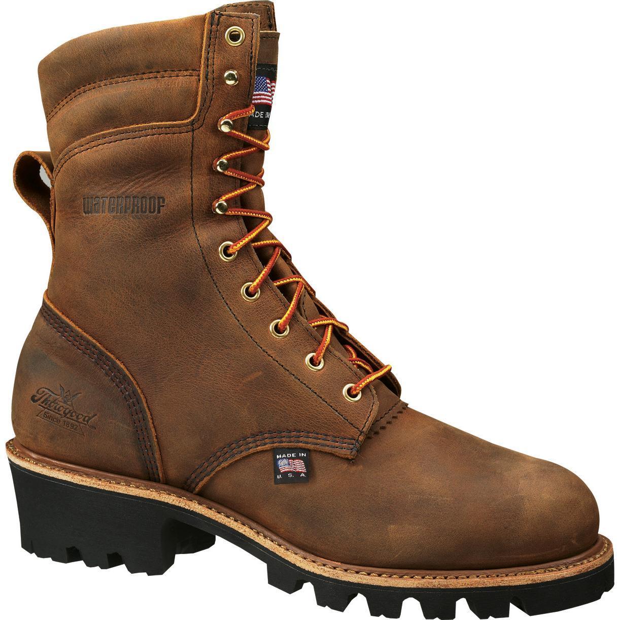 Thorogood Steel Toe Waterproof Insulated Logger Work Boots