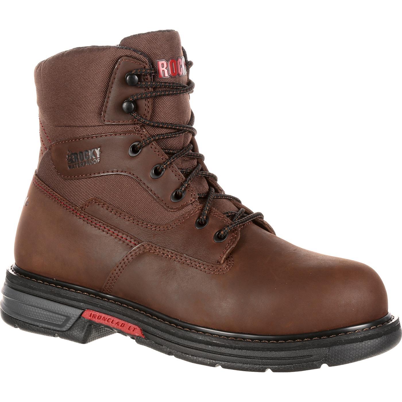 a8ebd34cc53 Rocky Ironclad LT Steel Toe Waterproof Work Boot