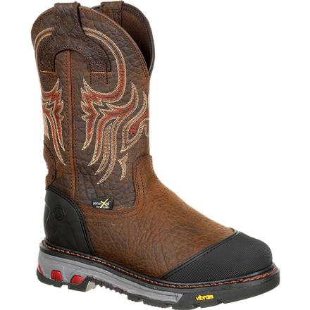 Justin Original Workboots Commander-X5 Borehole Steel Toe Internal Met Guard Waterproof Western Work Boot