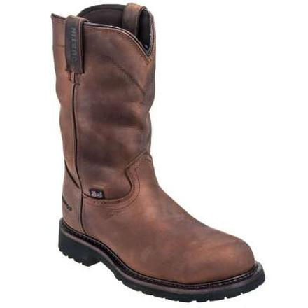 Justin Original Workboots Wyoming Worker II Steel Toe Waterproof Pull-On Work Boot