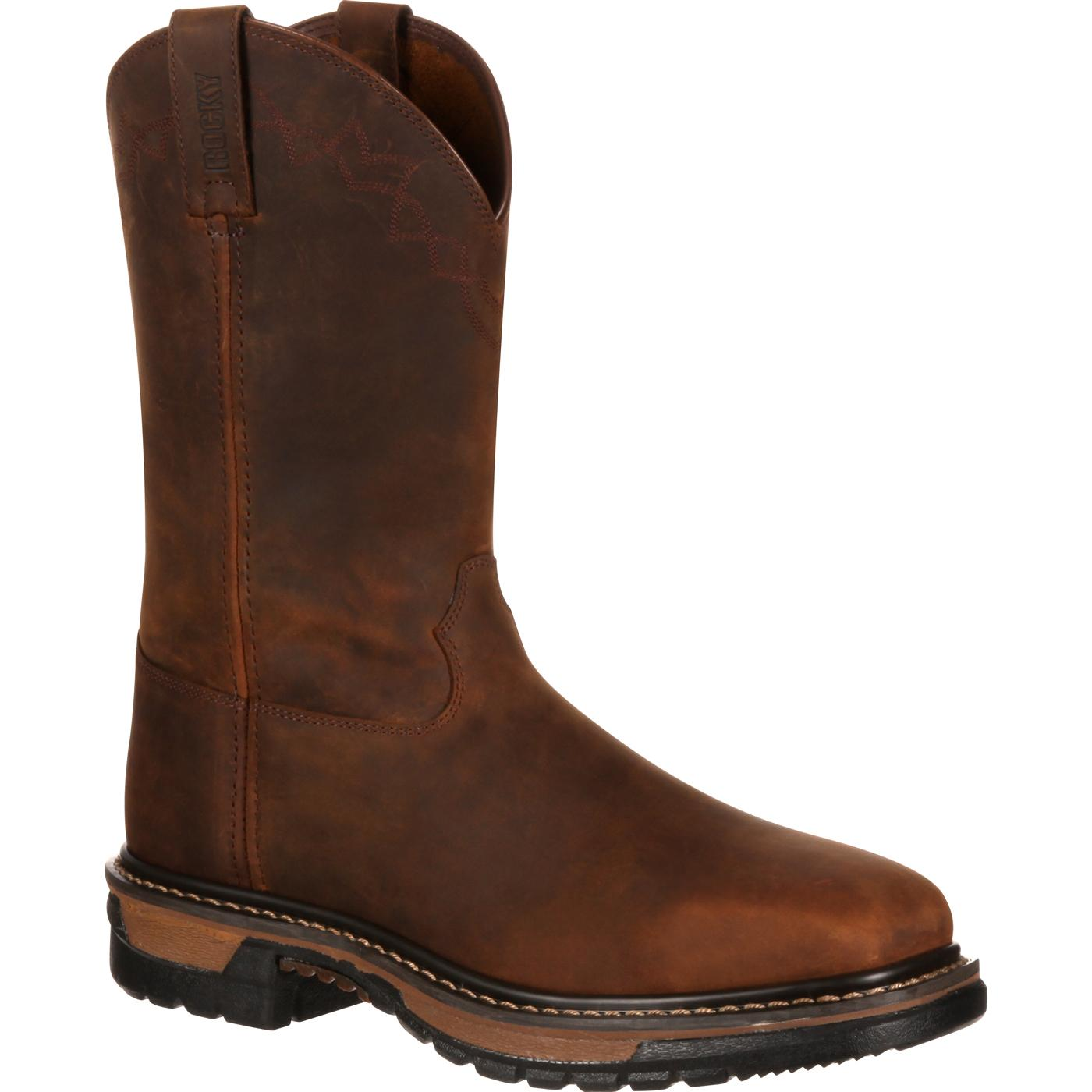 Steel Toe Comfort Western Boot Rocky Original Ride Rkw0117