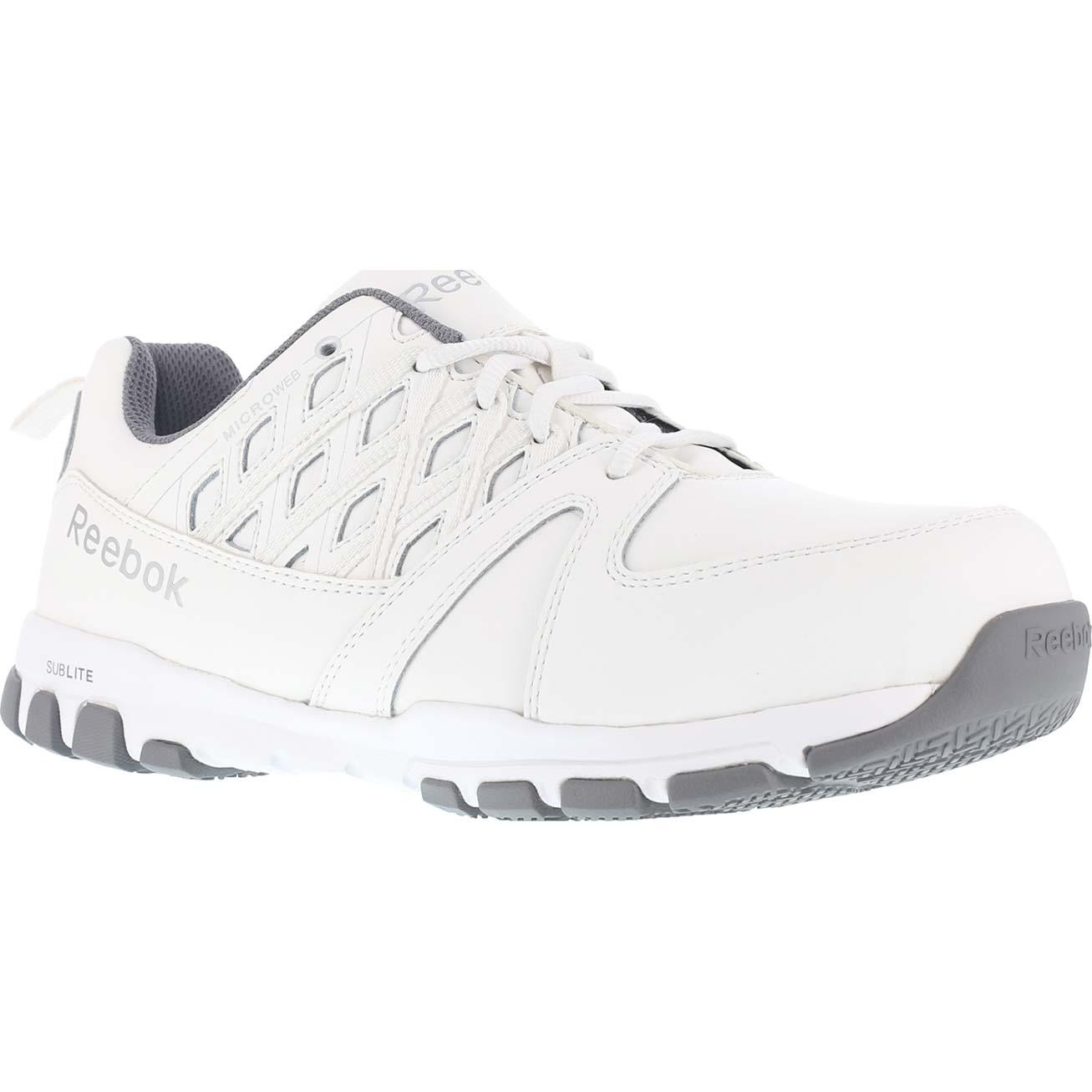 9384ec2fe59 Reebok Sublite Work Steel Toe Static-Dissipative Work Athletic ShoeReebok  Sublite Work Steel Toe Static-Dissipative Work Athletic Shoe