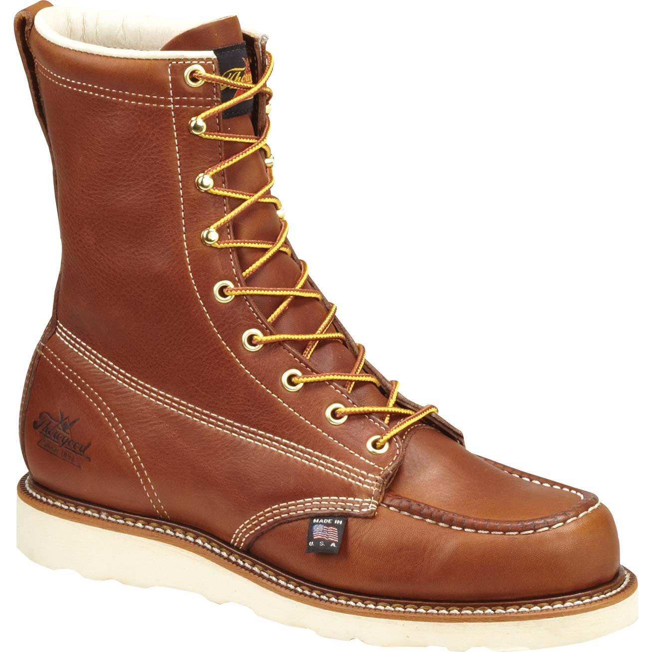 Thorogood Steel Toe Wedge Sole Work Boots 804 4208