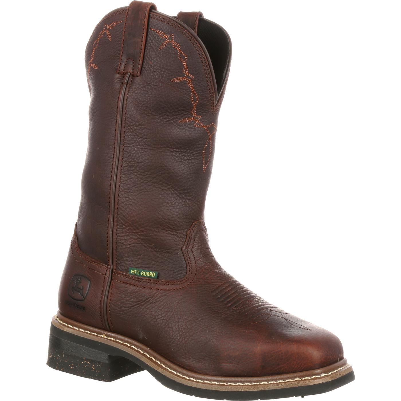 05f5452470f John Deere Steel Toe Met-Guard Series Wellington Work Boot