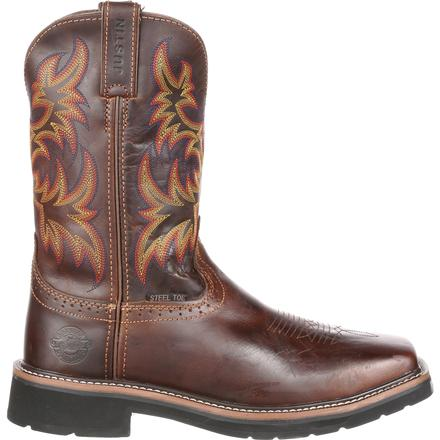 Justin Work Stampede Steel Toe Western Work Boot Jwk4682