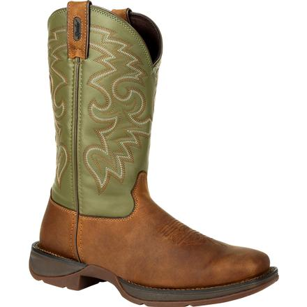 Rebel by Durango Coffee & Cactus Pull-On Western Boot, , large