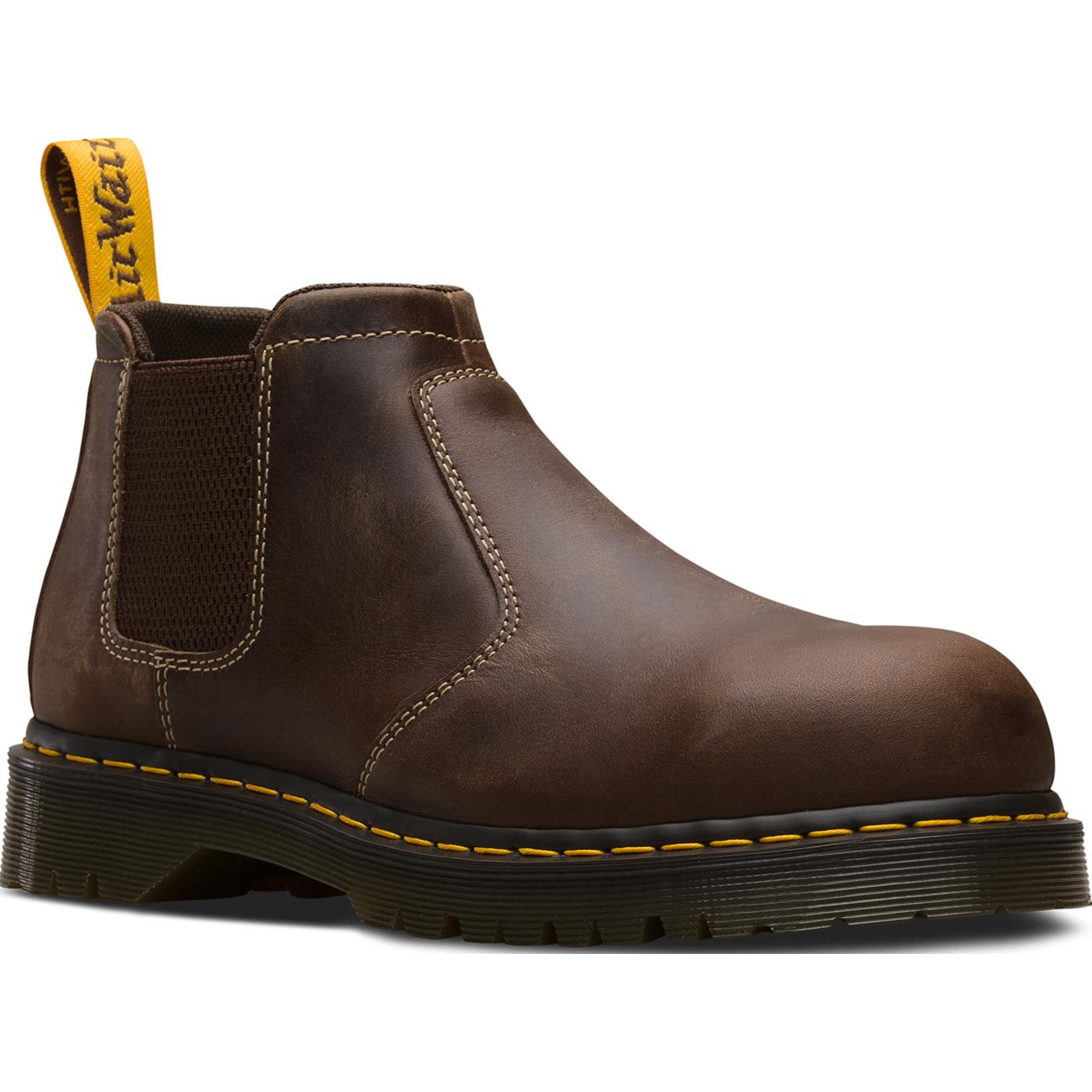 c61bef565eb Dr. Martens Heritage Furness Men's 5 inch Steel Electrical Hazard Romeo  Work Shoe