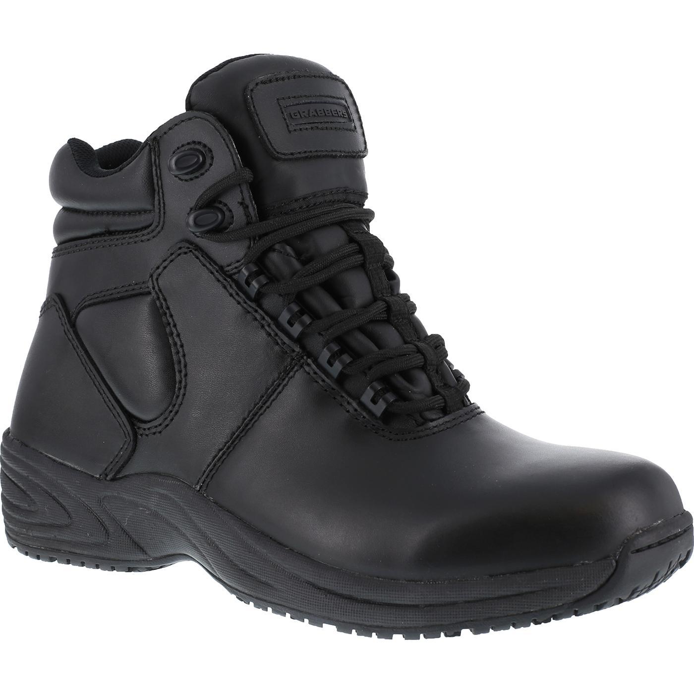 grabbers slip resistant hitop hiker work shoe g1240