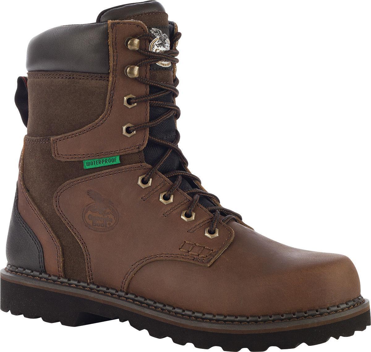 4d537f929e6 Georgia Boot Brookville Steel Toe Waterproof Work Boot
