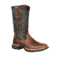 Lady Rebel by Durango Women's Ostrich Embossed Pull-On Western Boot, , medium