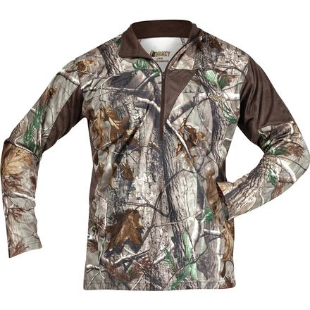 Rocky SilentHunter 1/4 Zip Shirt, Realtree AP, large