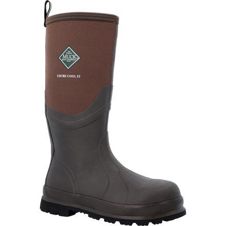Steel Toe Brown Waterproof Work Boot Muck Boots Chore Cool