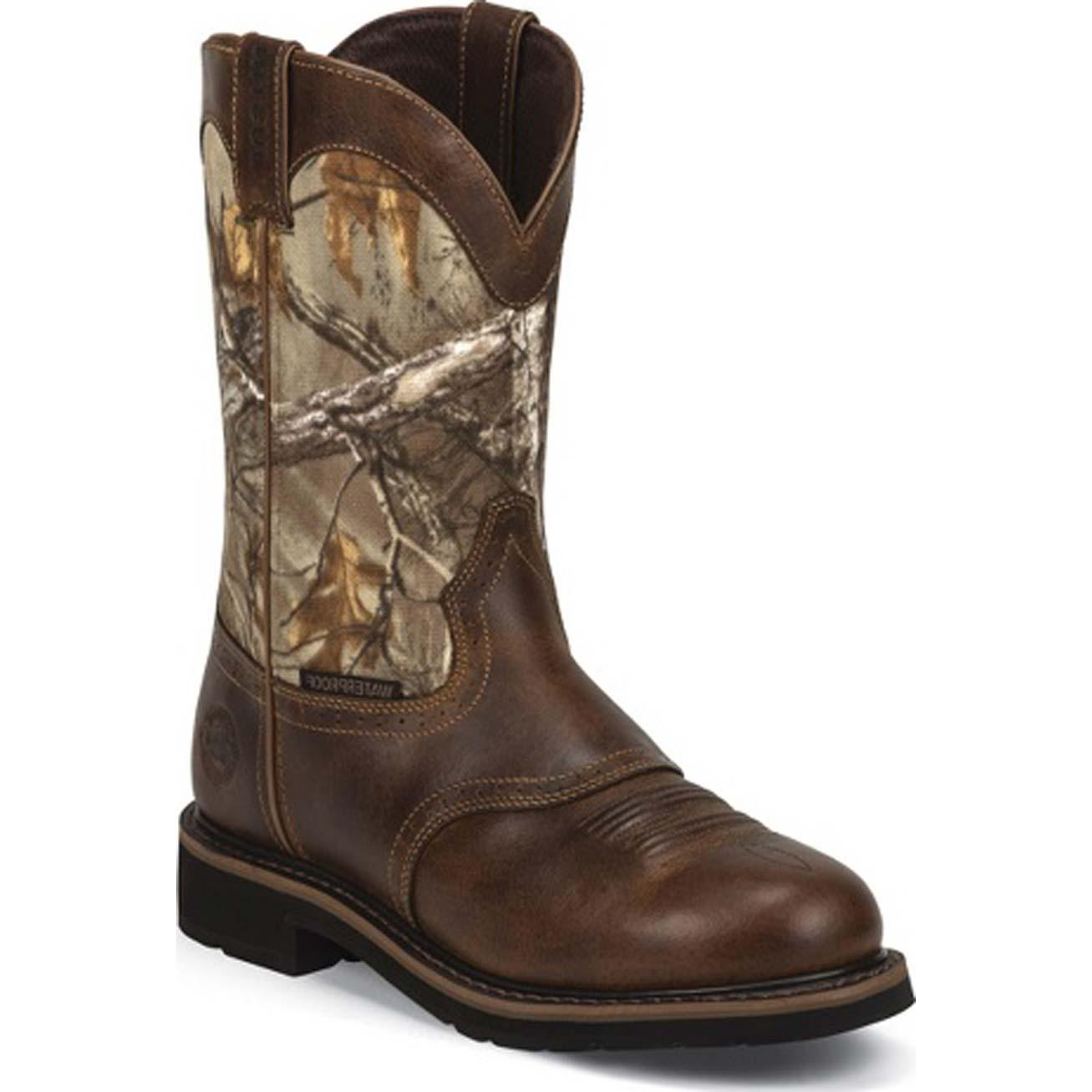 Justin Work Stampede Waterproof Western Work Boot Jwk4675