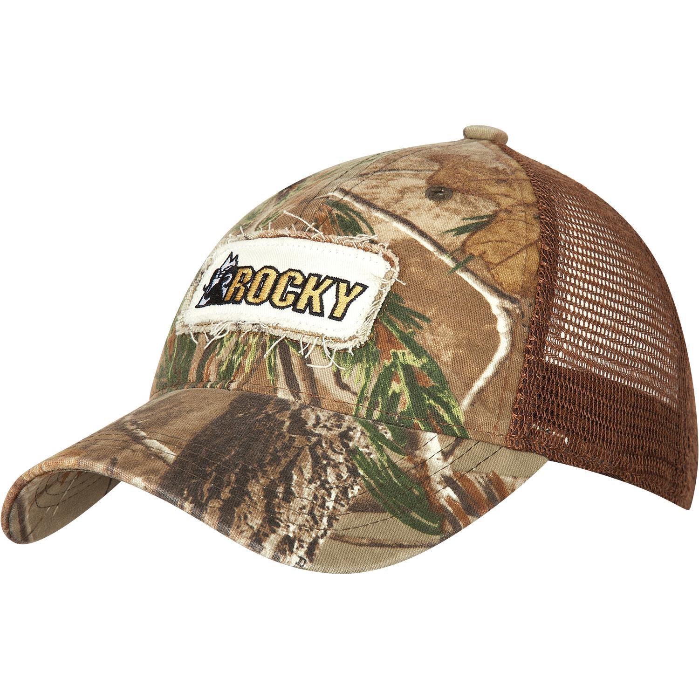 Men s Mossy Oak Camo Trucker Cap - Rocky style  LW00047 54f90d06139