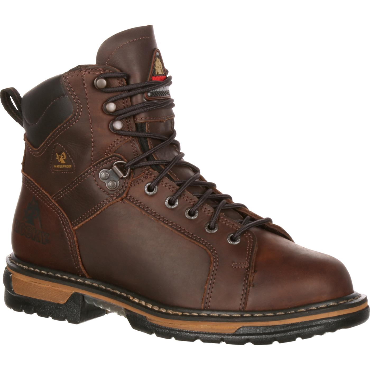 Waterproof Lace To Toe Work Boots Rocky Ironclad 5703