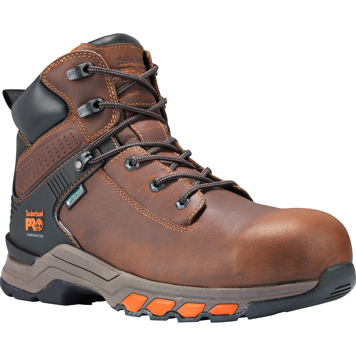 0d11adb731f Timberland PRO Hypercharge Men's 6 inch Composite Toe Electrical Hazard  Waterproof Leather Work Hiker