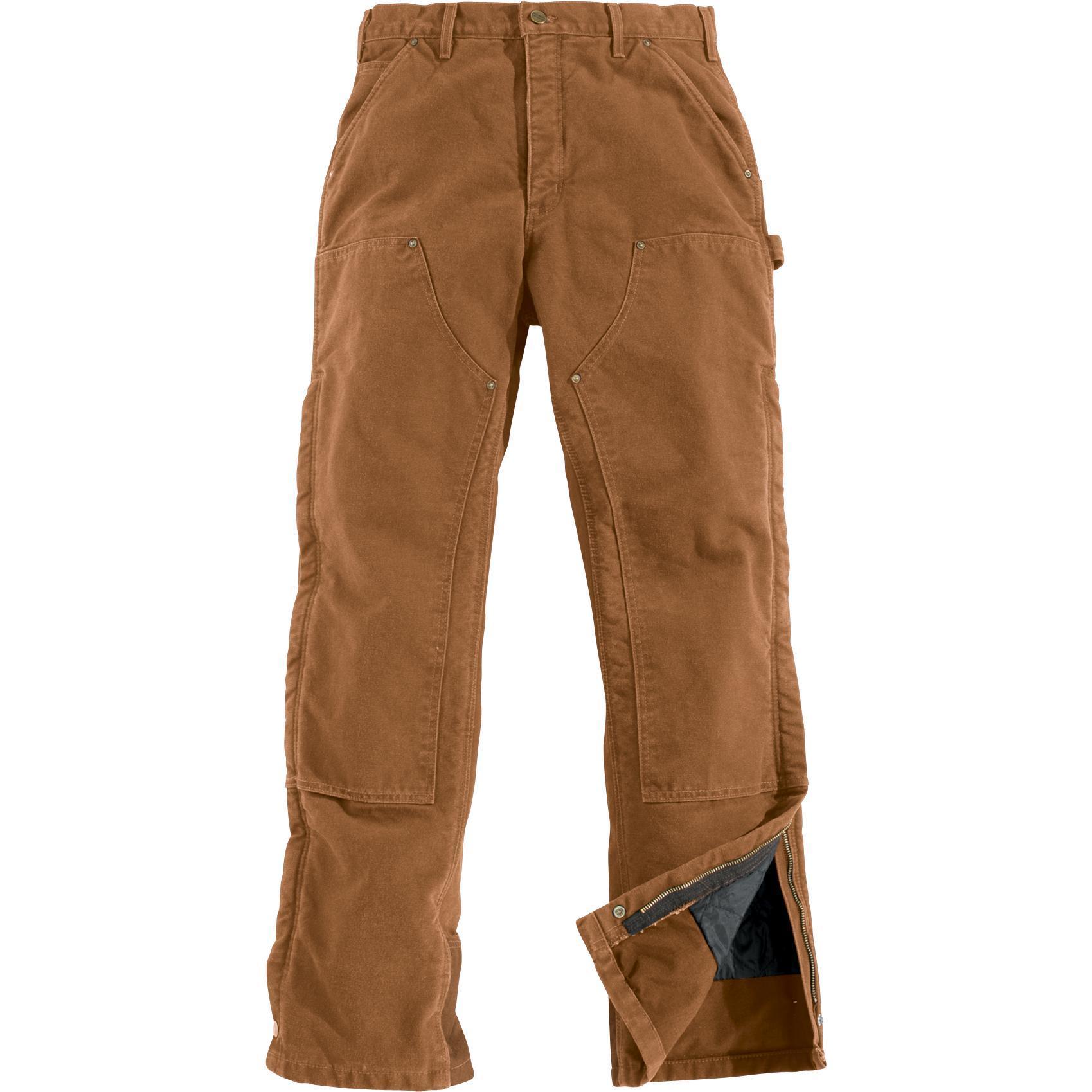 Carhartt Sandstone Quilt-Lined Brown Waist Overall Pants, #B194BRN : carhartt quilt lined pants - Adamdwight.com