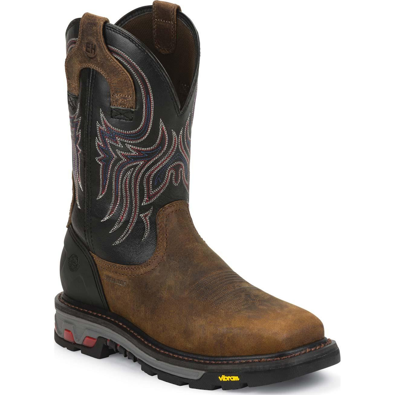 8866c3f8673 Justin Work Commander-X5™ Tanker Steel Toe Pull-On Work Boot