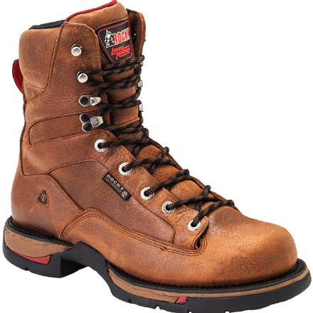 Rocky Long Range Aluminum Toe Waterproof Work Boot, , large