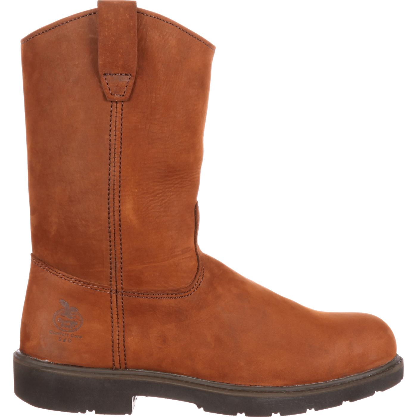 ad1eab01dd9d80 Georgia Boot  Men s Pull-On Steel Toe Work Boots