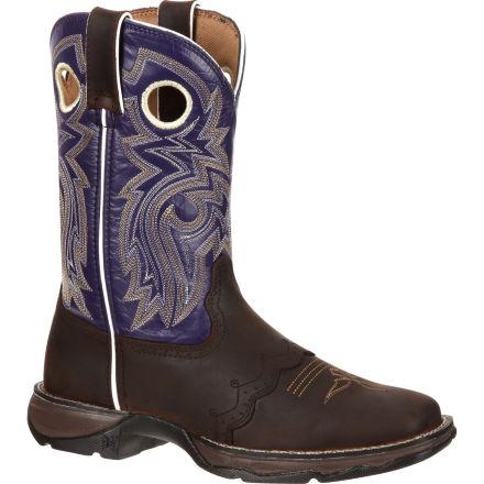 06901066168 Lady Rebel by Durango Women's Twilight n' Lace Saddle Western Boot