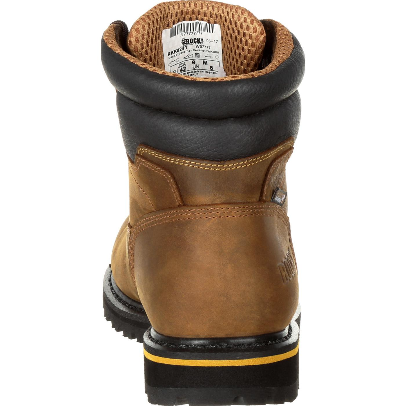 5c8e5d2f9a2 Rocky Governor Composite Toe Waterproof 6 Inch Work Boot